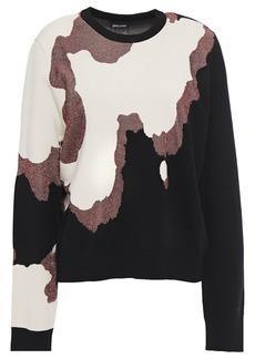 Just Cavalli Woman Metallic Intarsia-knit Sweater Multicolor