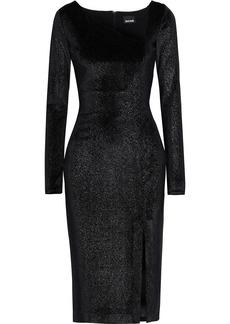 Just Cavalli Woman Metallic Velvet Dress Black