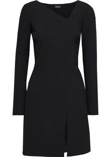 Just Cavalli Woman Monogram-trimmed Crepe Mini Dress Black