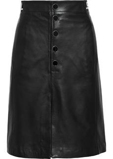 Just Cavalli Woman Monogram-trimmed Leather Skirt Black