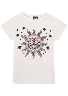 Just Cavalli Woman Printed Cotton-jersey T-shirt Off-white