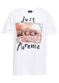 Just Cavalli Woman Printed Cotton-jersey T-shirt White