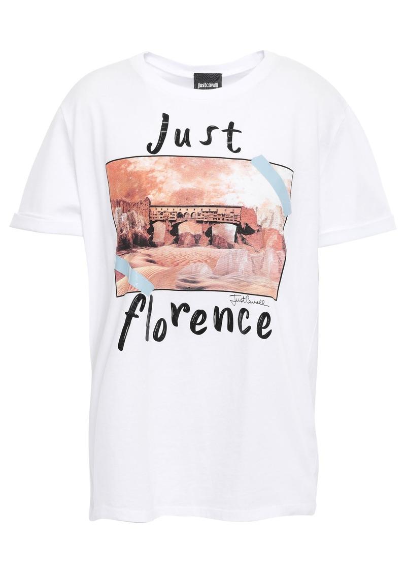 Just Cavalli Woman Printed Cotton-jersey T-shirt White
