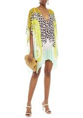 Just Cavalli Woman Printed Georgette Mini Dress Animal Print