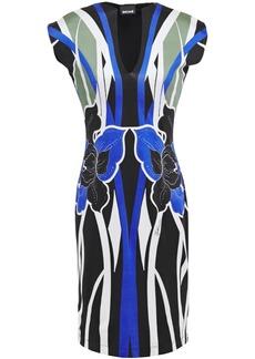 Just Cavalli Woman Printed Stretch-jersey Dress Black