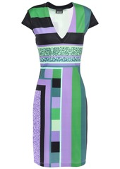 Just Cavalli Woman Printed Stretch-jersey Dress Lavender