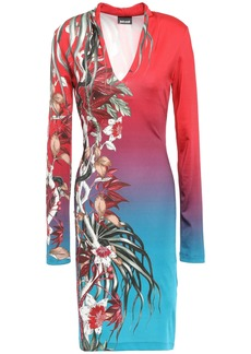 Just Cavalli Woman Printed Stretch-jersey Dress Red