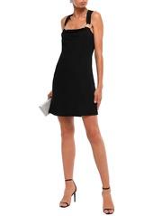 Just Cavalli Woman Ring-embellished Knitted Mini Dress Black