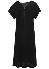 Just Cavalli Woman Ring-embellished Textured-jersey Dress Black