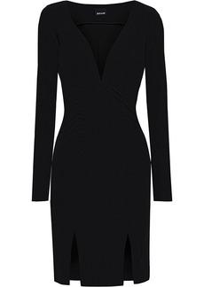 Just Cavalli Woman Ruched Jersey Mini Dress Black