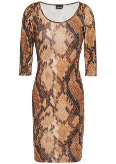 Just Cavalli Woman Snake-print Stretch-jersey Mini Dress Animal Print