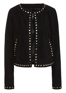 Just Cavalli Woman Studded Suede Jacket Black