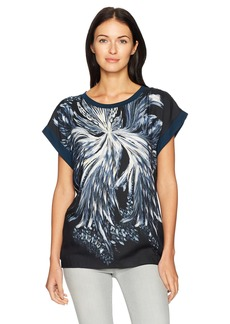 Just Cavalli Women's Blast of Baroque Print Tee  XS