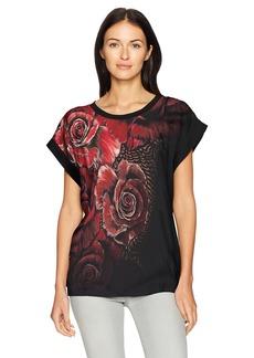 Just Cavalli Women's Bold and Beautiful Print Tee  XS
