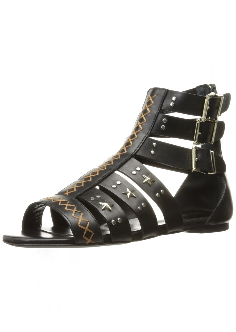 Just Cavalli Women's Cow LTH with Studs Gladiator Sandal  3 EU/ M US