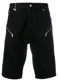 Just Cavalli zip-embellished denim shorts - Black