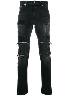 Just Cavalli zip-embellished skinny jeans - Black
