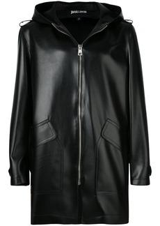 Just Cavalli zipped hooded coat