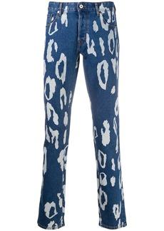 Just Cavalli Just-fit leopard-print jeans