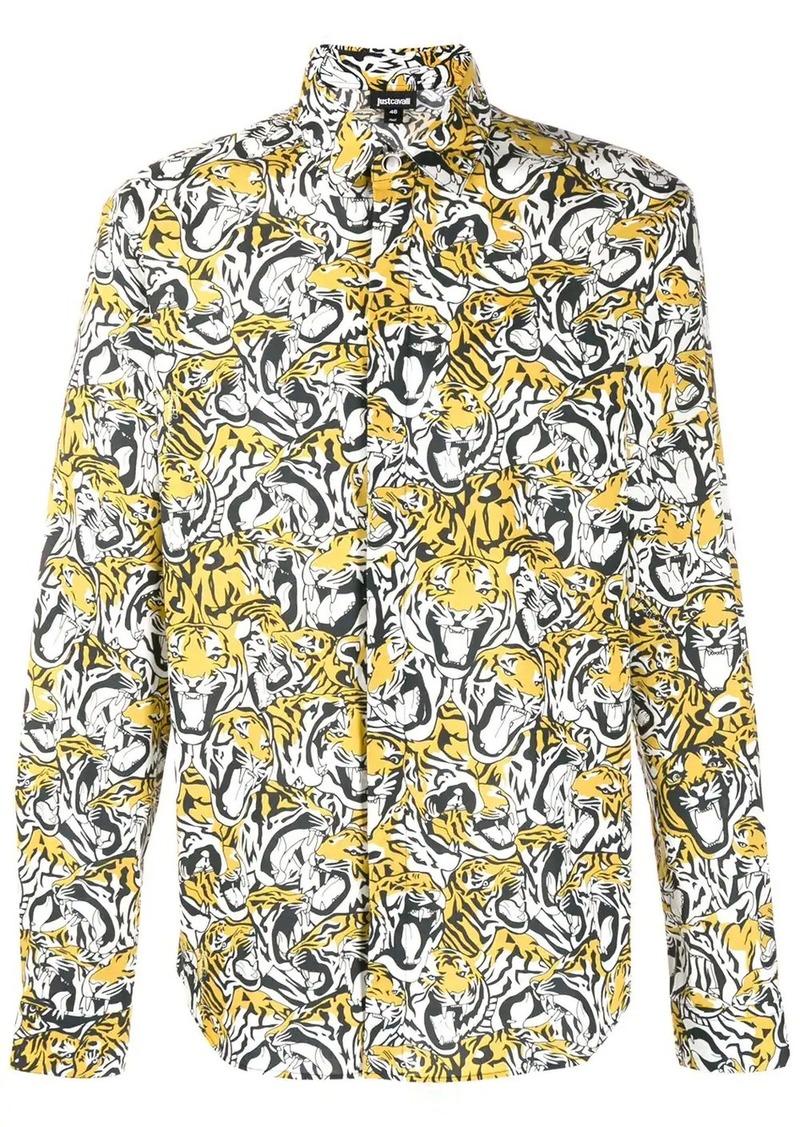 Just Cavalli Kaleidoscope tiger print shirt