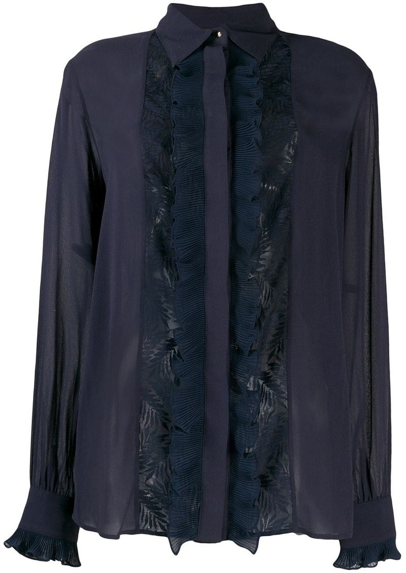 Just Cavalli lace panel blouse