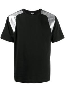 Just Cavalli laminated-shoulders T-shirt