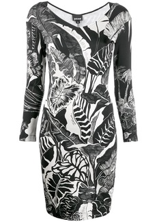 Just Cavalli leaf print dress