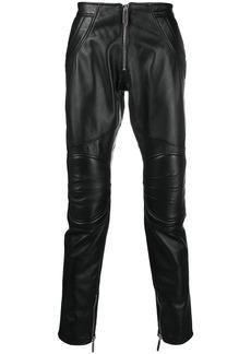 Just Cavalli leather biker trousers