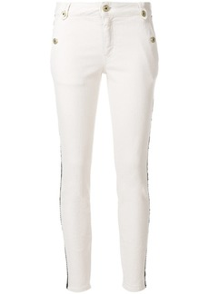 Just Cavalli leather stripe detail jeans