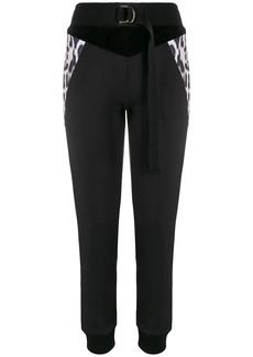 Just Cavalli leopard panelled track pants