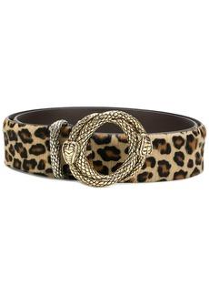 Just Cavalli leopard print belt