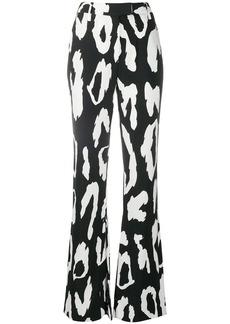 Just Cavalli leopard-print flared trousers