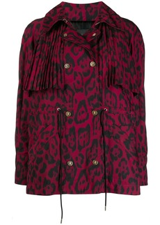 Just Cavalli leopard print pleat jacket