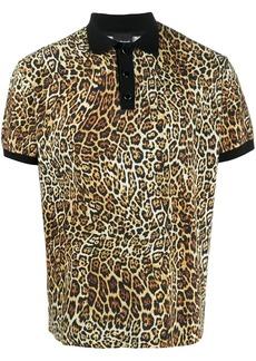 Just Cavalli leopard print polo T-shirt
