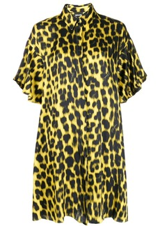 Just Cavalli leopard-print satin shirt dress