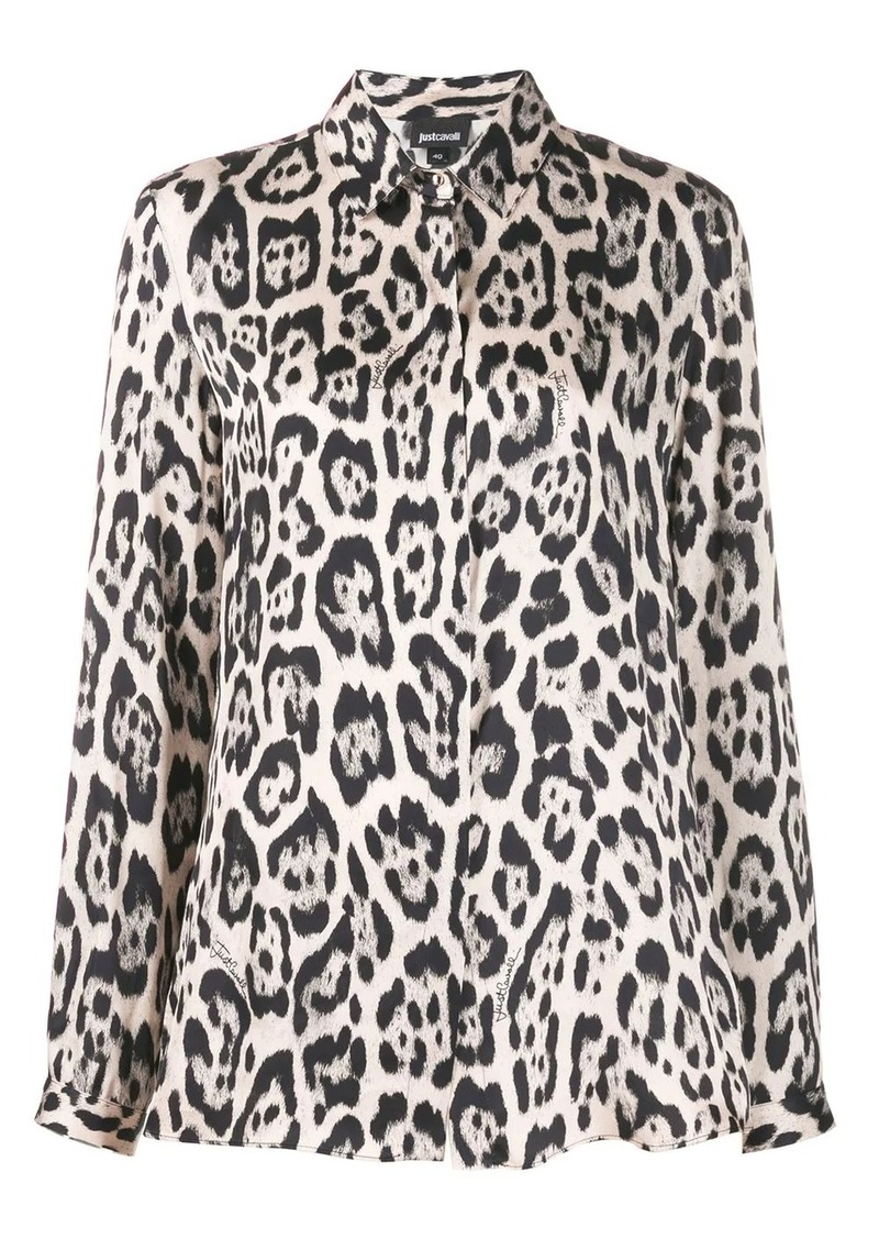 Just Cavalli leopard print shirt