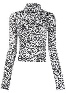 Just Cavalli leopard roll-neck top
