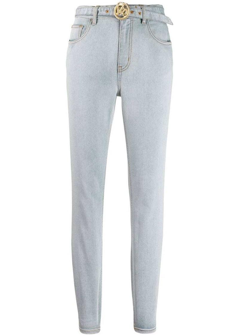 Just Cavalli logo buckle skinny jeans