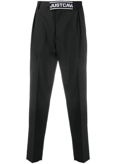 Just Cavalli logo-embellished tapered trousers