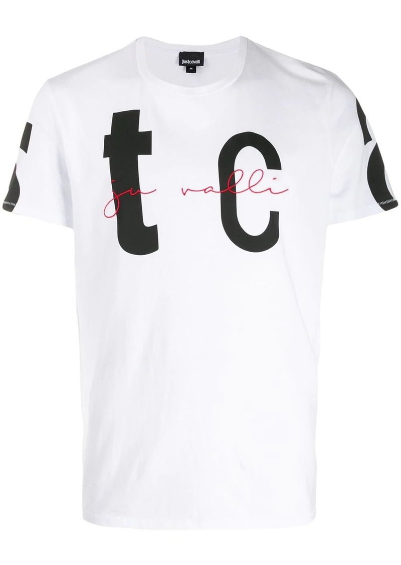 Just Cavalli logo embroidered T-shirt