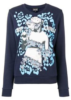 Just Cavalli logo graphic print sweater