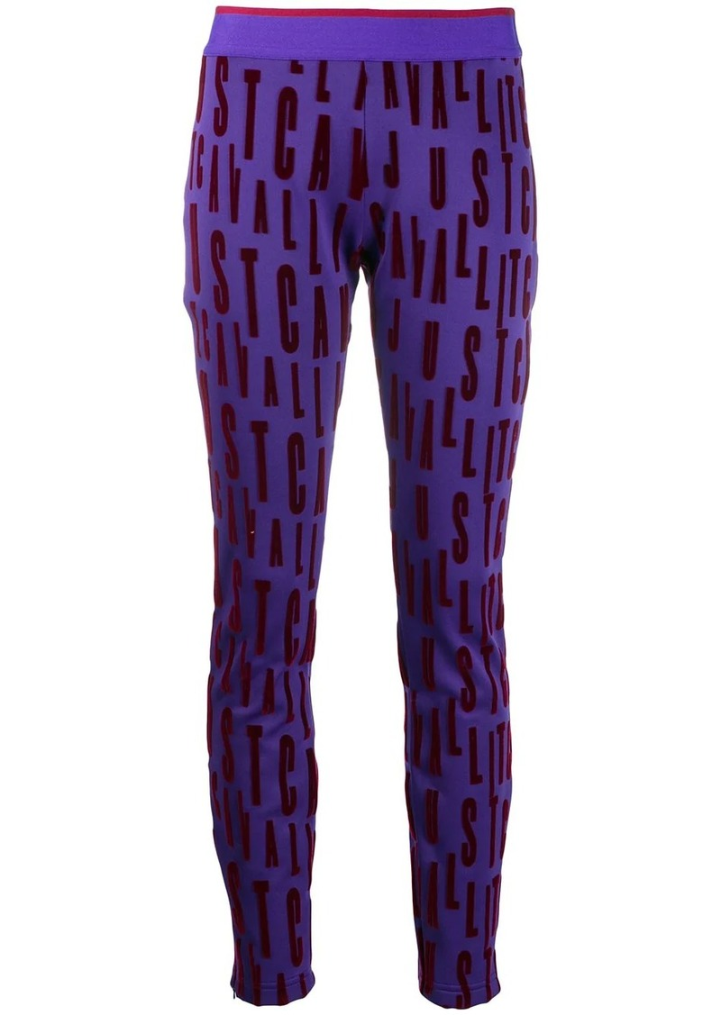 Just Cavalli logo leggings