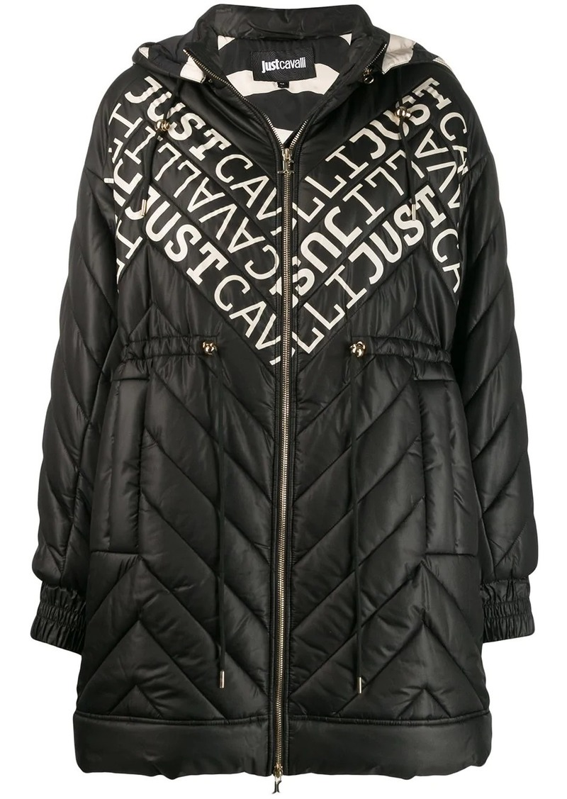 Just Cavalli logo padded coat