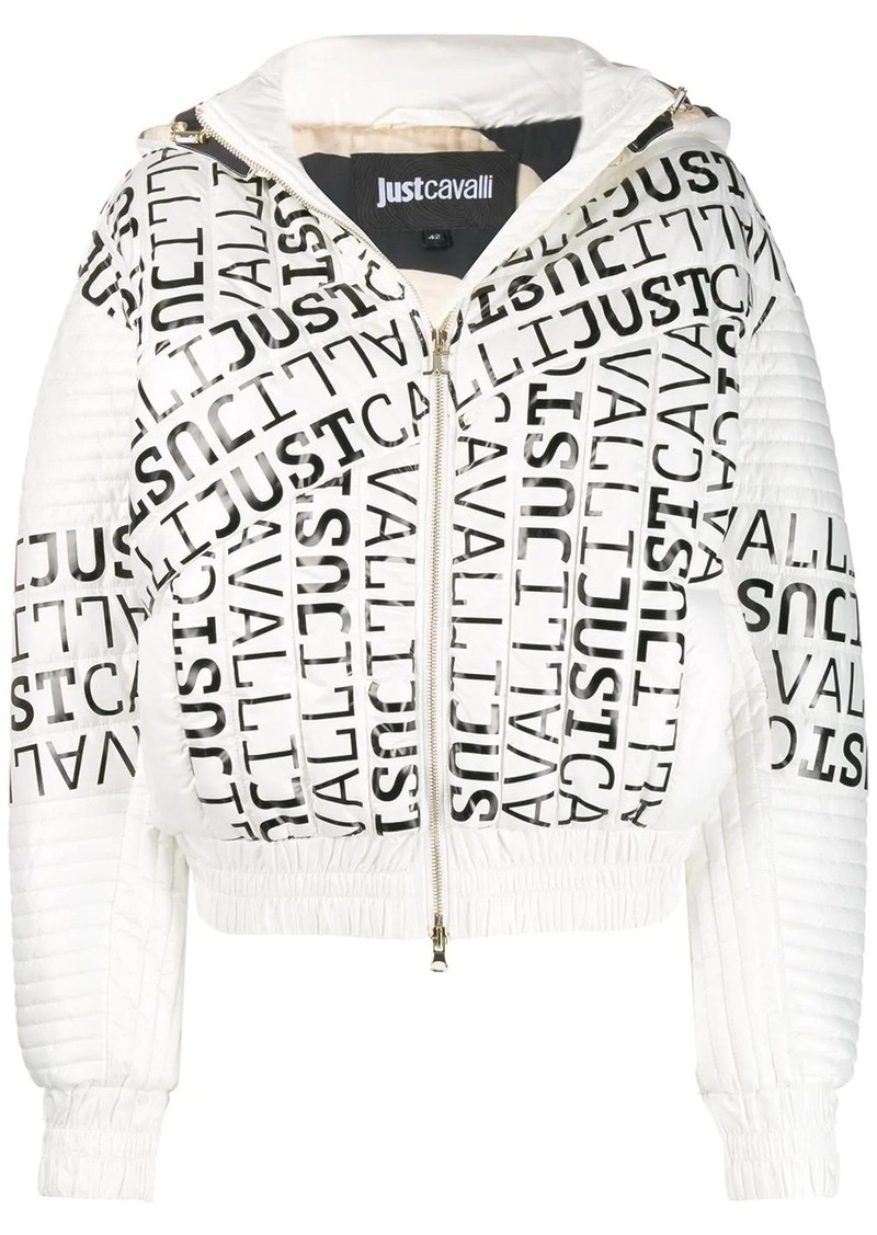 Just Cavalli logo padded jacket