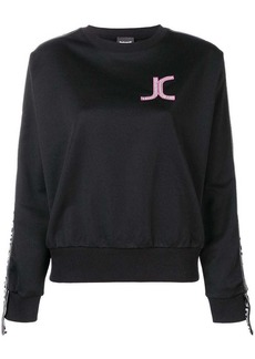 Just Cavalli logo patch sweatshirt