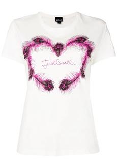 Just Cavalli logo patch T-shirt