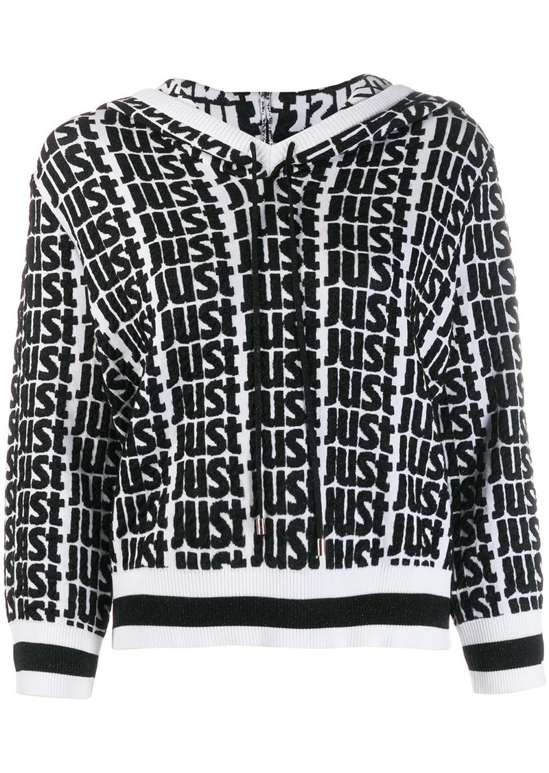 Just Cavalli logo print hoodie