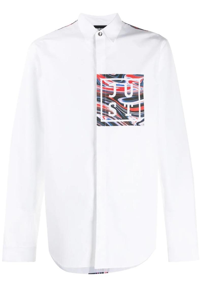 Just Cavalli logo print shirt