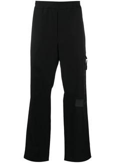Just Cavalli logo-print straight leg trousers
