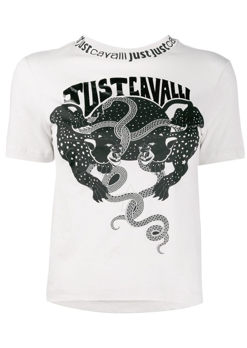 Just Cavalli logo print T-shirt